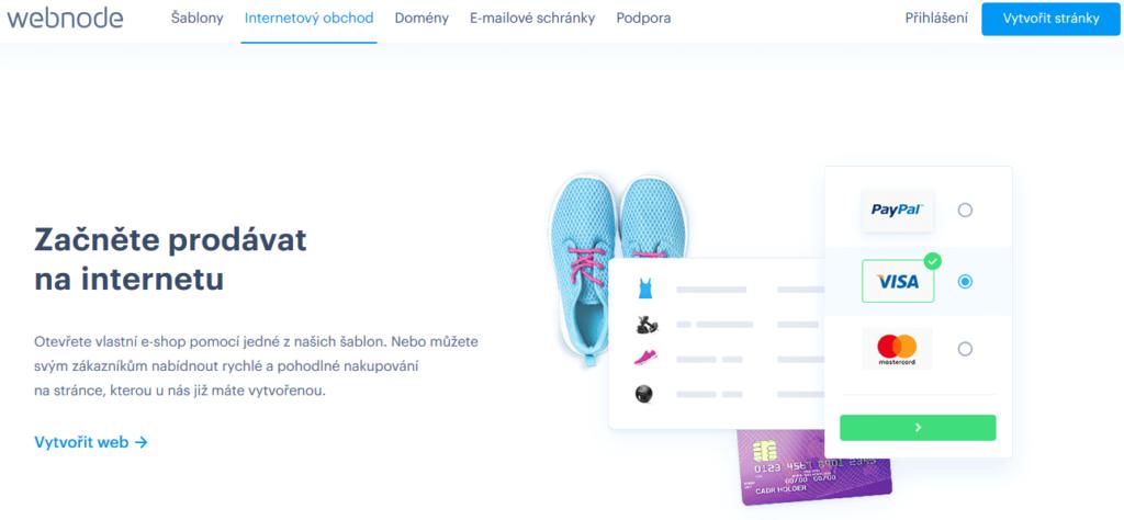 Webnode e-shop platforma pro tvorbu internetových obchodů