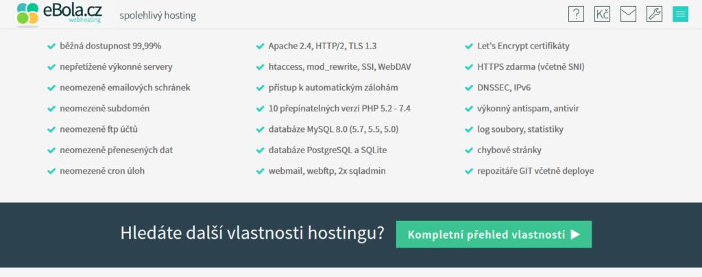 2 ebola recenze vlastnosti hostingu
